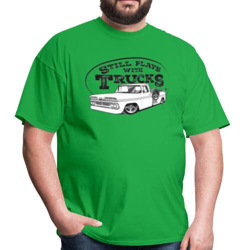1960 Slammed C10 Longbed Stepside Tee (Black graphic) - Men's T-Shirt