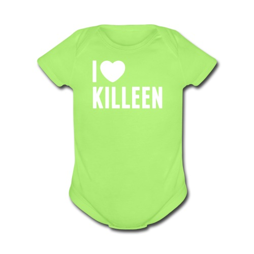 IHK Baby Onesie - White Print (Choose shirt color!) - Organic Short Sleeve Baby Bodysuit