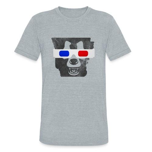 3D Bear State - Triblend Vintage - Unisex Tri-Blend T-Shirt