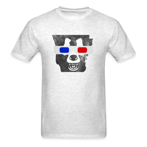 3D Bear State - Regular Tee - Men's T-Shirt