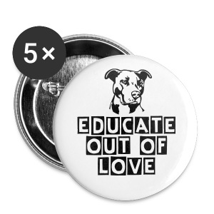 Educate don't discriminate - Small Buttons