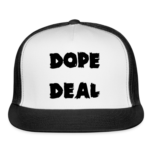 Dope Deal Black Logo Trucker Hat - Trucker Cap
