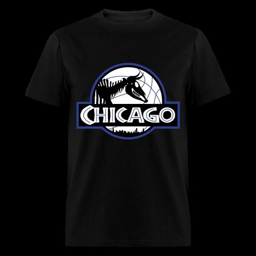 Men's Jurassic Chicago Blue Logo Tee - Men's T-Shirt