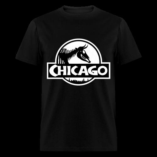 Men's Jurassic Chicago White Logo Tee - Men's T-Shirt