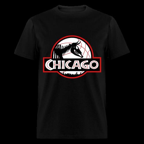 Men's Jurassic Chicago Bulls Colors Tee - Men's T-Shirt