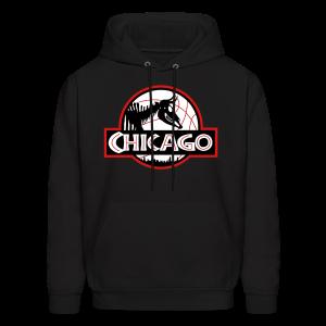 Men's Jurassic Chicago Bulls Colors Hooded Sweatshirt - Men's Hoodie