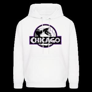 Men's Jurassic Chicago Purple Logo Hooded Sweatshirt - Men's Hoodie