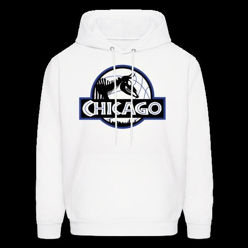 Men's Jurassic Chicago Blue Logo Hooded Sweatshirt - Men's Hoodie
