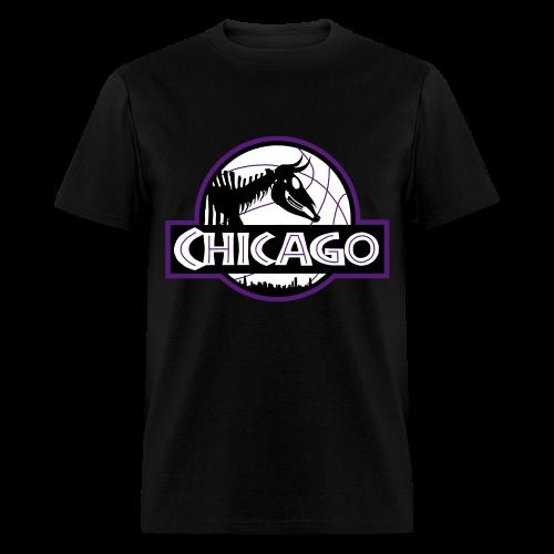 Men's Jurassic Chicago Purple Logo Tee - Men's T-Shirt