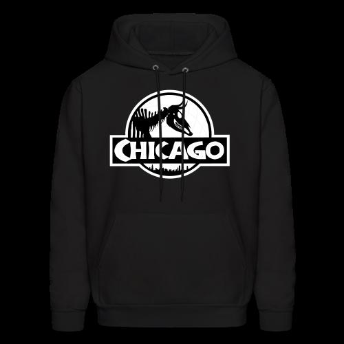 Men's Jurassic Chicago White Logo Hooded Sweatshirt - Men's Hoodie