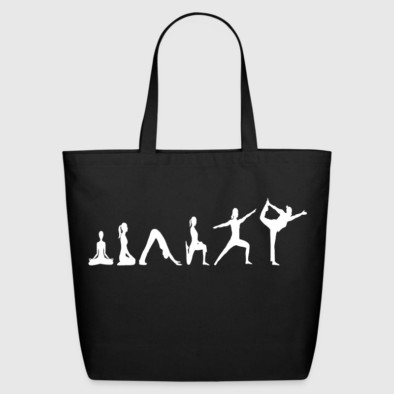 Yoga Evolution vector Bags & backpacks - Eco-Friendly Cotton Tote