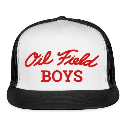 Oil Field Boys Red logo on Trucker Hat - Trucker Cap