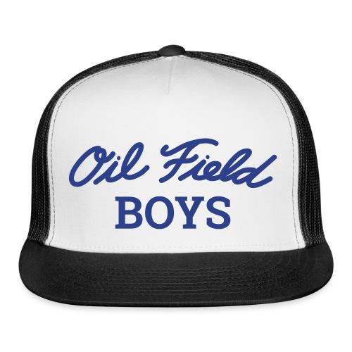 Oil Field Boys Blue logo on Trucker Hat - Trucker Cap