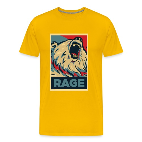 Rage Bear for President (Shirt Yellow) - Men's Premium T-Shirt