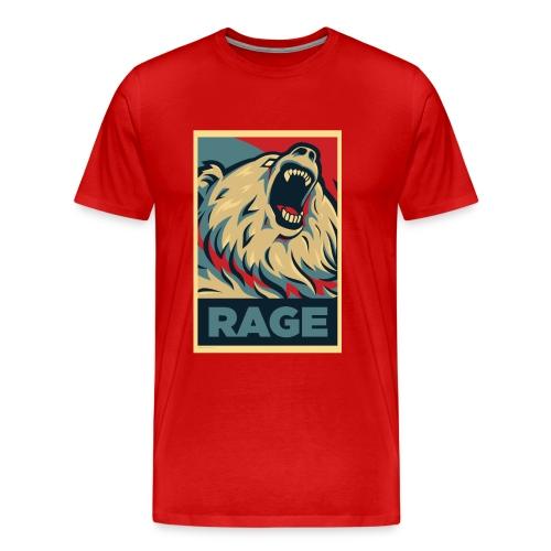 Rage Bear for President (Shirt Red) - Men's Premium T-Shirt
