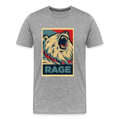 Rage Bear for President (Shirt Charcoal) - Men's Premium T-Shirt