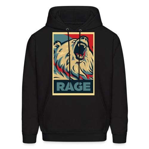 Rage Bear for President (Hoodie Black) - Men's Hoodie