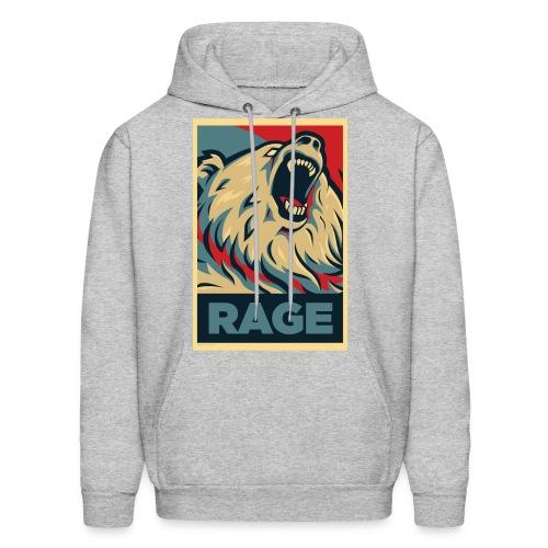 Rage Bear for President (Hoodie Charcoal) - Men's Hoodie