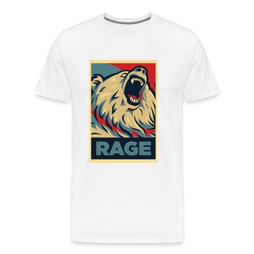 Rage Bear for President (Shirt White) - Men's Premium T-Shirt
