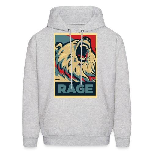 Rage Bear for President (Hoodie Ash) - Men's Hoodie