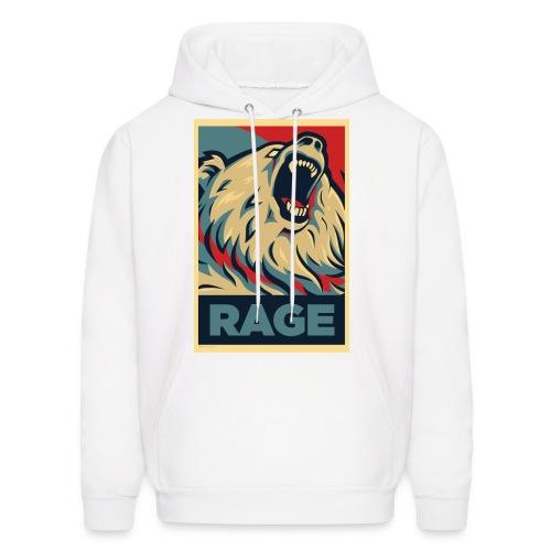 Rage Bear for President (Hoodie White) - Men's Hoodie