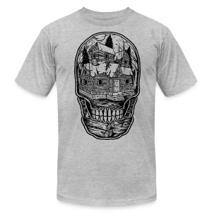 Haunted Mind - Men's T-Shirt by American Apparel