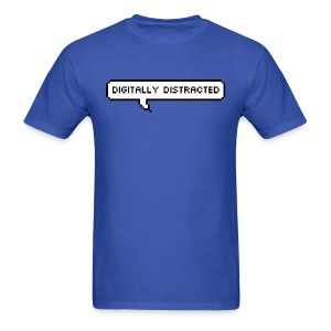 Digitally Distracted with Rear Logo - Men's T-Shirt