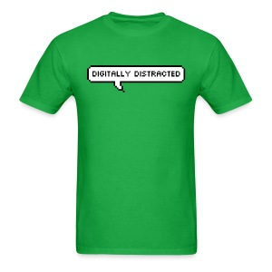 Digitally Distracted with Rear Explosion Logo - Men's T-Shirt
