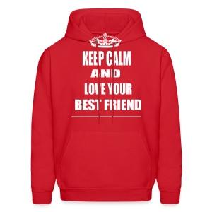 Keep Calm and Love Your Best Friend Hoodie - Men's Hoodie