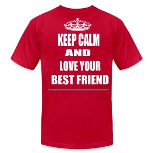 Keep Calm and Love Your Best Friend T Shirt Red - Men's Fine Jersey T-Shirt
