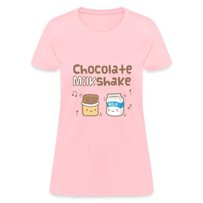 9d842bb3 Rusty Doodle | Cute Chocolate Milkshake Womens T-Shirts - Womens T-Shirt