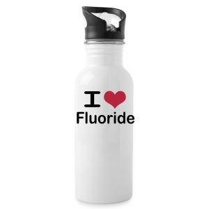 I love fluoride (black text) - Water Bottle