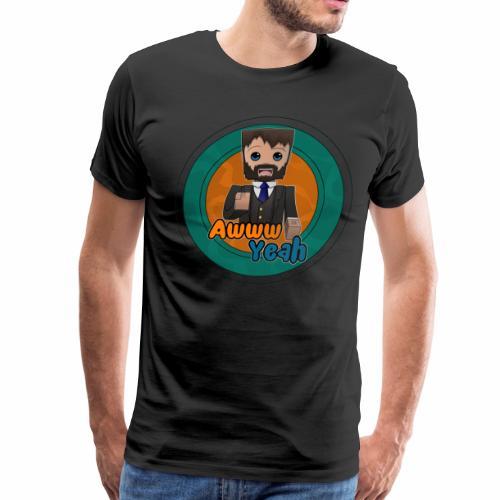 Awww Yeah! (Men's/Circle) - Men's Premium T-Shirt