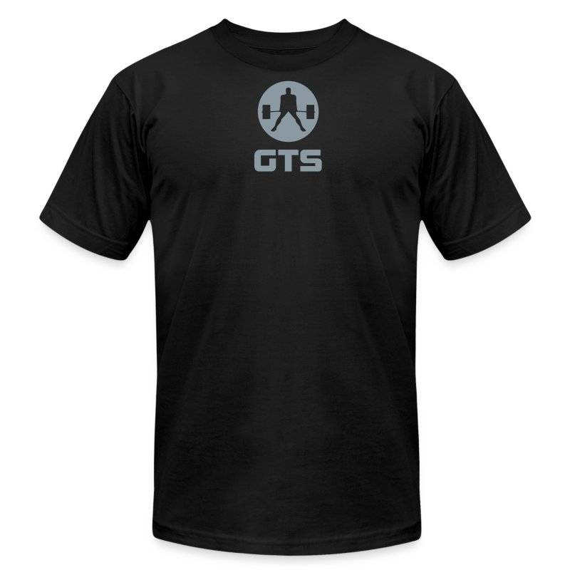 GTS Deadlifter Gray AA Cotten - Men's Fine Jersey T-Shirt