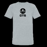 T-Shirts ~ Unisex Tri-Blend T-Shirt ~ GTS Deadlifter Black AA Tri-Blend Gray