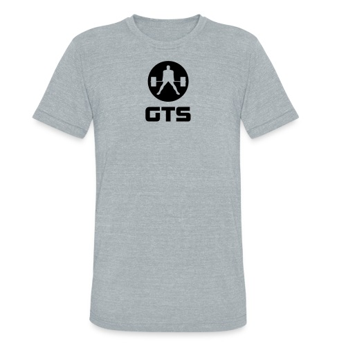 GTS Deadlifter Black AA Tri-Blend Gray - Unisex Tri-Blend T-Shirt