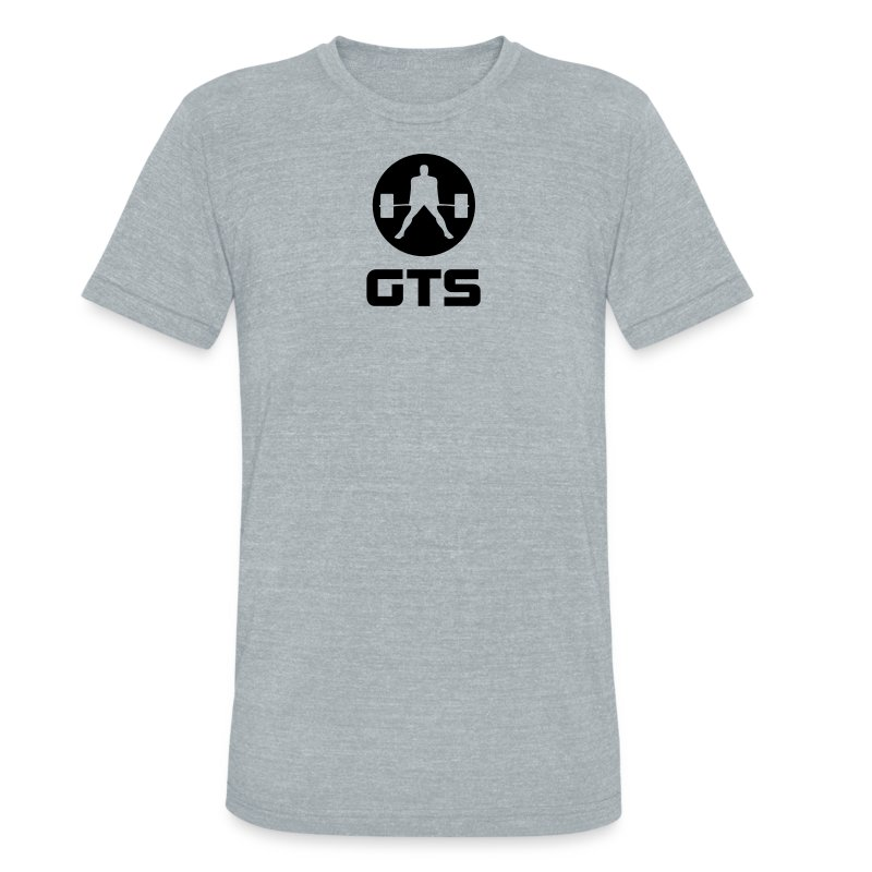 GTS Deadlifter Black AA Tri-Blend Gray - Unisex Tri-Blend T-Shirt by American Apparel