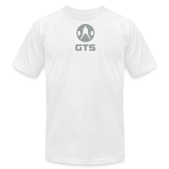 T-Shirts ~ Men's T-Shirt by American Apparel ~ GTS Deadlifter Gray AA Cotten - WHITE