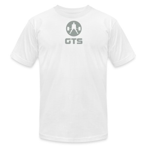 GTS Deadlifter Gray AA Cotten - WHITE - Men's T-Shirt by American Apparel