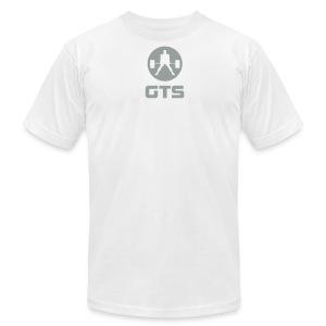 GTS Deadlifter Gray AA Cotten - WHITE - Men's Fine Jersey T-Shirt