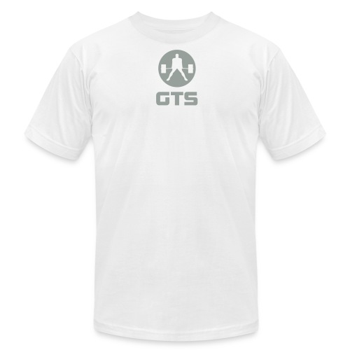 GTS Deadlifter Gray AA Cotten - WHITE - Men's Fine Jersey T-Shirt
