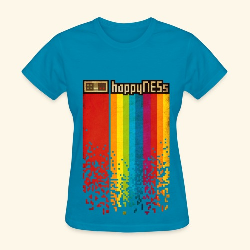 happyNESs [Pixelart] - Women's T-Shirt