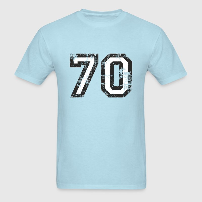 Number 70 Birthday T-Shirt (Men Black/White) Vinta - Men's T-Shirt