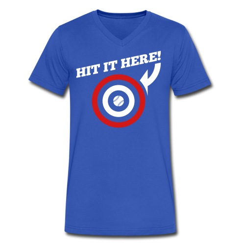 Hit it Here! - Men's V-Neck T-Shirt by Canvas