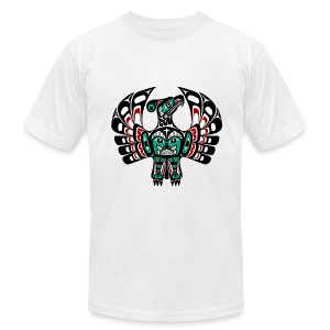 Northwest Pacific coast Haida art Thunderbird - Men's T-Shirt by American Apparel