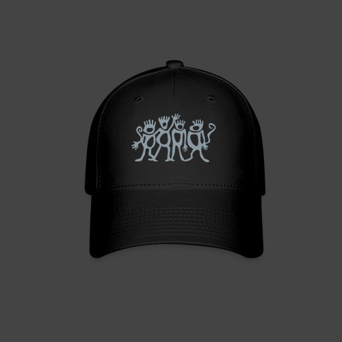 Spider Monkey - Silver Monkeys Fitted Baseball Cap - Baseball Cap