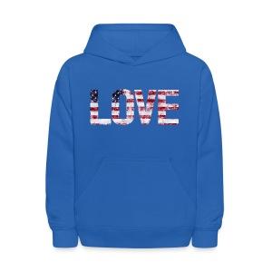 USA Flag Love - Kids' Hoodie