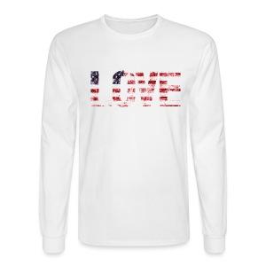 USA Flag Love - Men's Long Sleeve T-Shirt