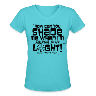 Women's T-Shirts ~ Women's V-Neck T-Shirt ~ SHADING ME?