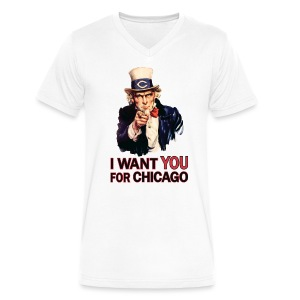 I Want You For Chicago - Men's V-Neck T-Shirt by Canvas